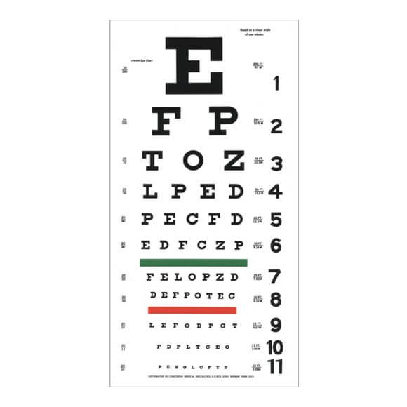 Eye Chart Literate Illiterate Gstc